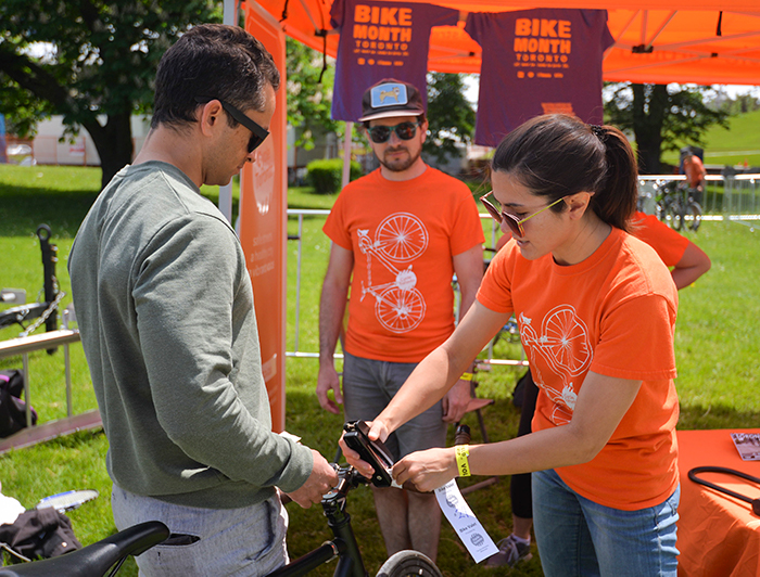 Bike Valet Field Trip 2018 in action photo by Nick Jones
