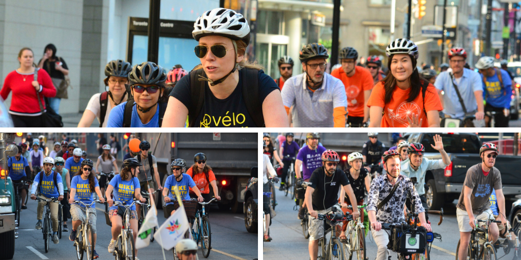 Bike to Work Day 2018 group ride on Yonge Street