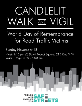 FFSS will hold a Candlelit Walk and Vigil on November 18 2018