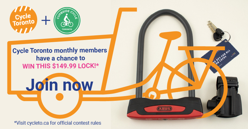 Cycle Toronto Members have a chance to win this $149.99 lock. Join now!