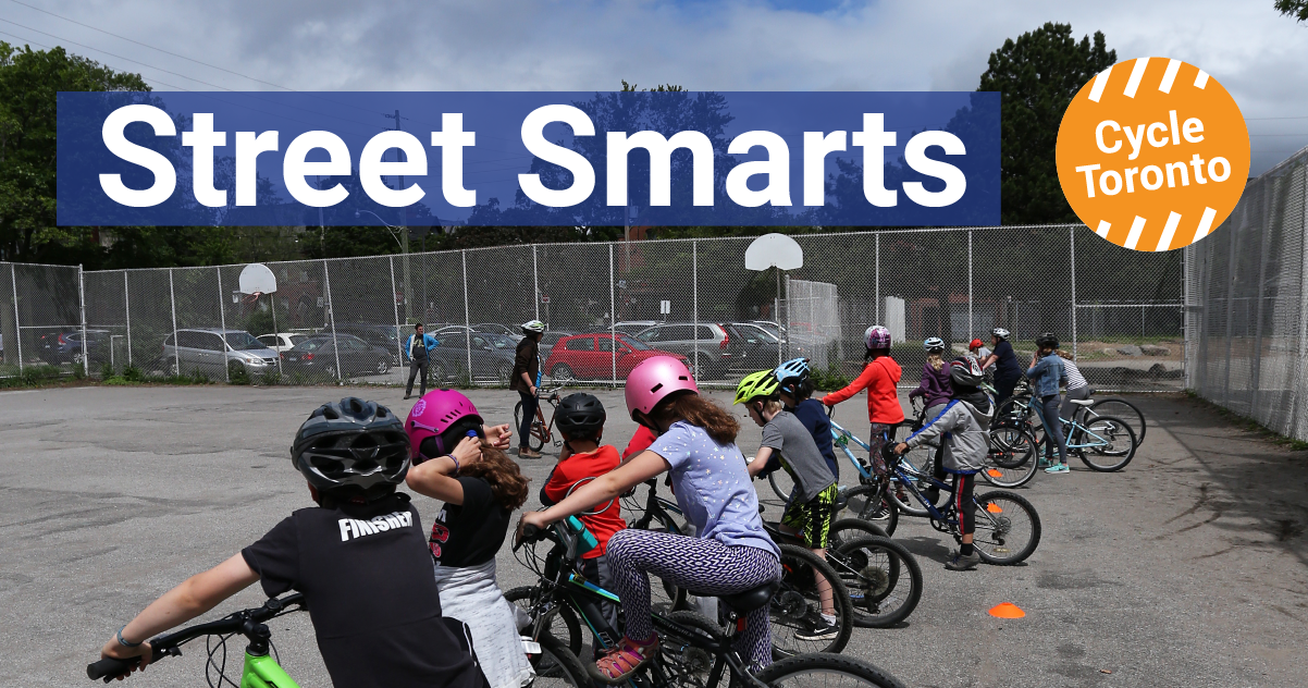 Street Smarts. Cycle Toronto. Kids learning to ride bikes.