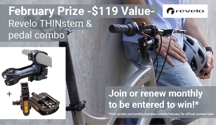 February Prize $119 value. Revelo Thinstem and Pedal Combo
