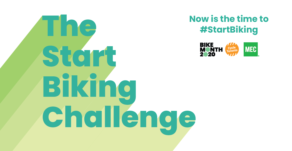 The Start Biking Challenge. Now is the time to #StartBiking