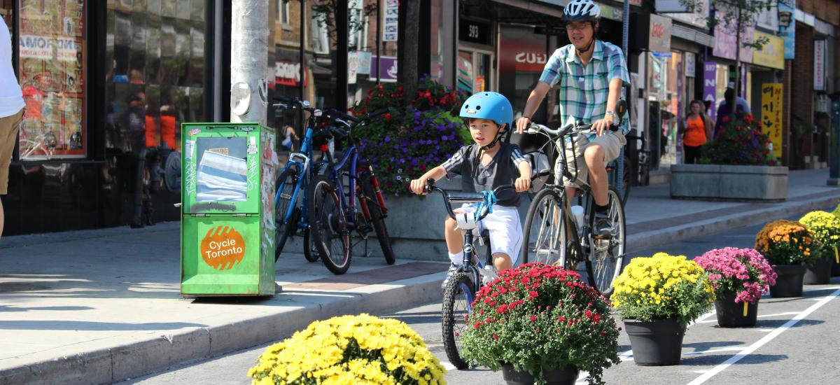 Bloor Bike Lane pop up at open streets 2016