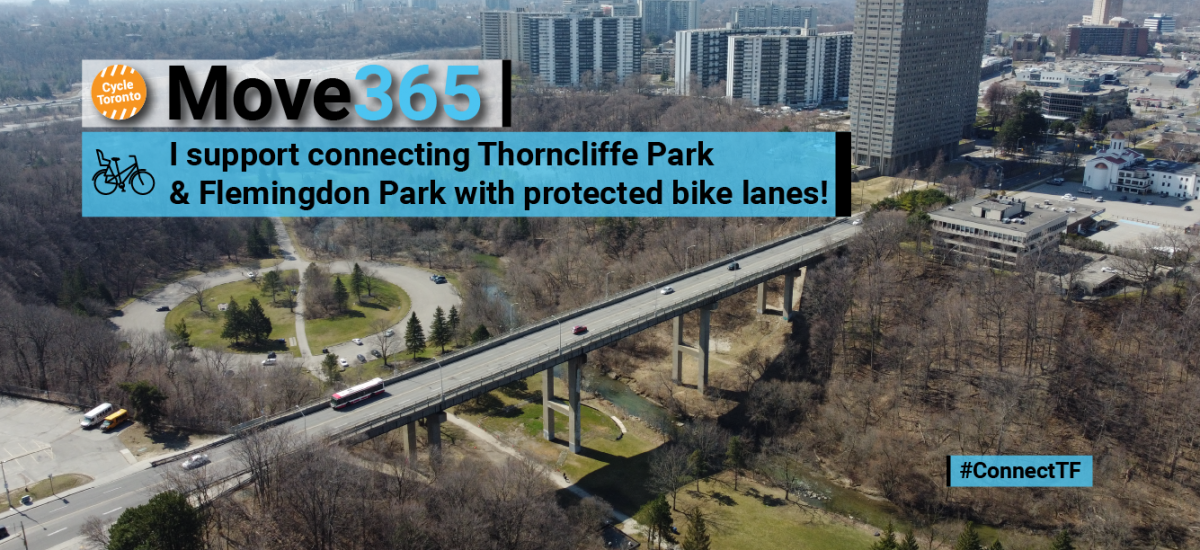 I support connecting Thorncliffe Park and Flemingdon Park with protected bike lanes
