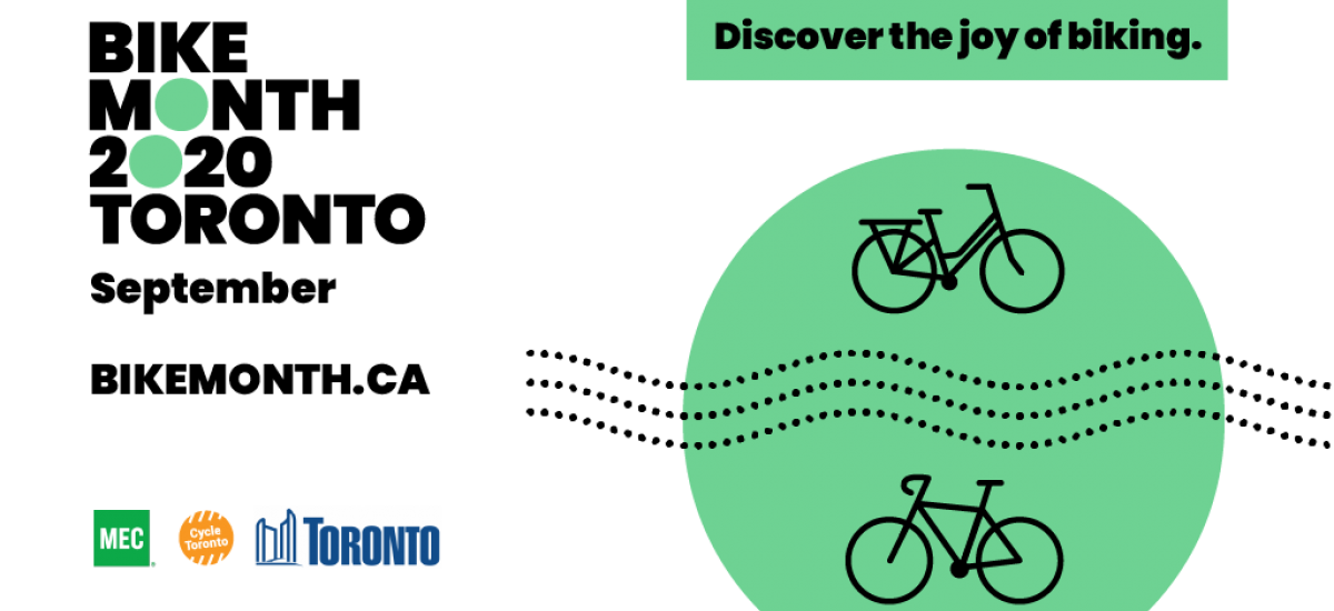 Bike Month 2020 Toronto. Discover the joy of biking