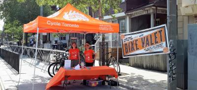 Bike Valet at Kensington Market