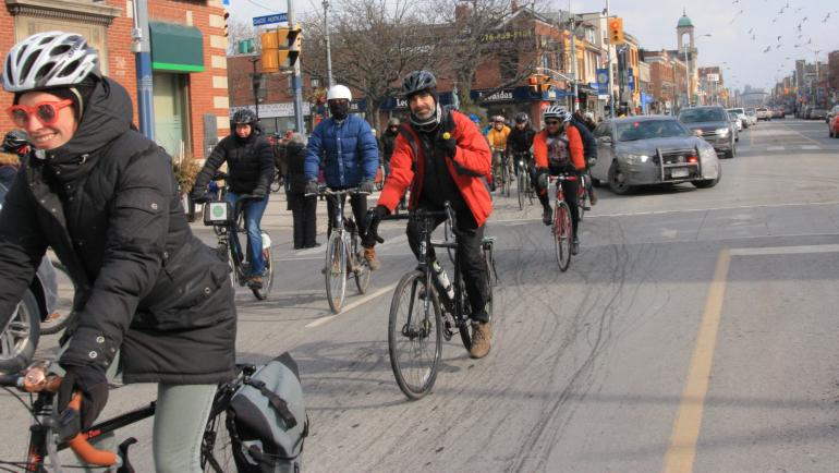 riding on the Danforth
