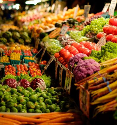 Vegetables in a market