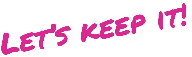Text reads: Let's keep it