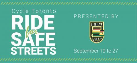 Ride for Safe Streets September 19 to 27