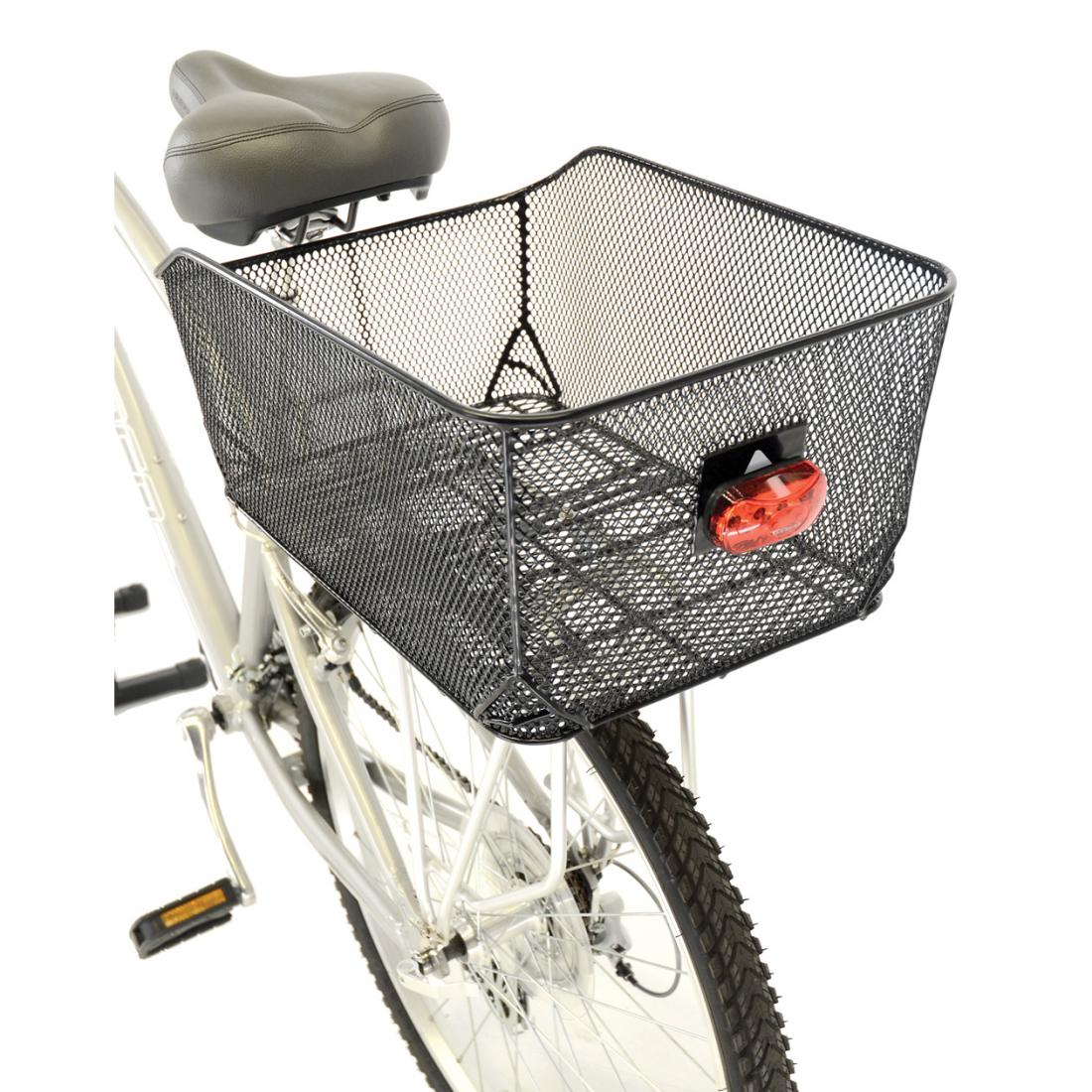 Bike basket attached to cream coloured bike