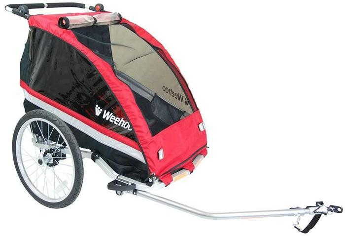 Bike trailer with cover designed for children